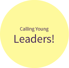 Calling young leaders -yellow circle